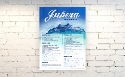Cartel Fiestas Jubera 2013