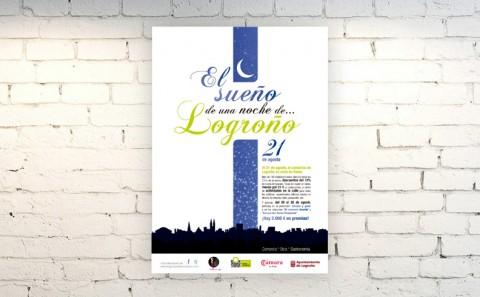 Cartel Sueño de una noche de Logroño